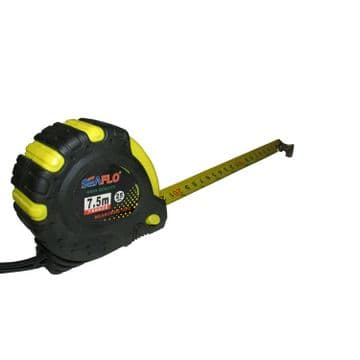 2 x 7.5 metre x 25mm wide RETRACTABLE LOCKING TAPE MEASURE with BELT CLIP tool